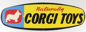 Naturally corgi toys paper sign x535