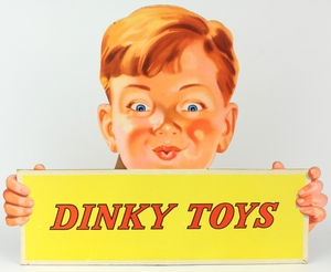 Dinky toys card stand with boy x588