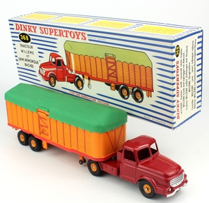 French dinky 36b willeme tractor trailer x883