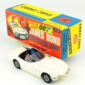 Corgi 336 james bond toyota gold yy156