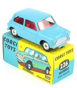Corgi 226 morris mini minor blue yy452