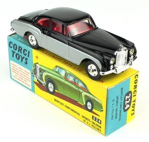 Corgi toys 224 bentley continental yy706