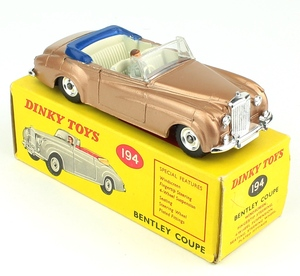 Dinky toys 194 bentley coupe yy972