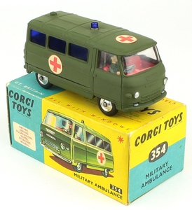 Corgi toys 354 military ambulance yy991