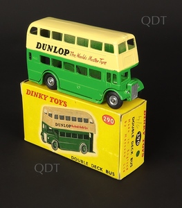 Dinky toys 290 double deck bus dunlop zz521