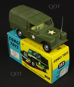 Corgi toys 357 landrover weapons carrier x462a