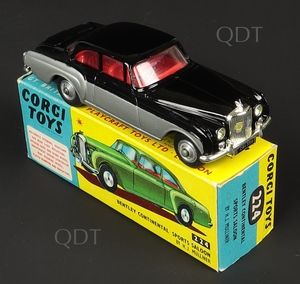 Corgi toys 224 bentley continental zz756