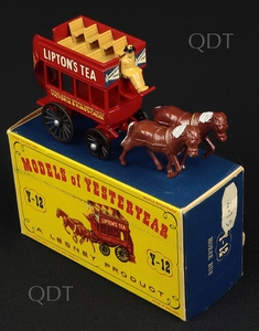 Matchbox models yesteryear y 12 horse bus lipton's tea v299