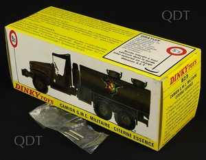 French dinky toys 823 military gmc truck box v3001