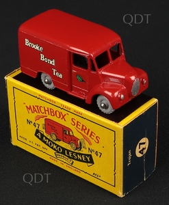 Matchbox model 47 trojan van brokke bond tea v302