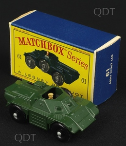 Matchbox 61 army scout car v306