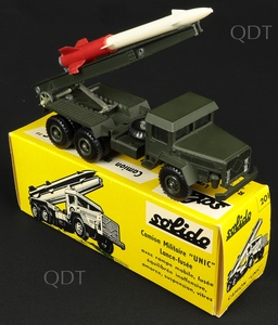 Solido models 201 unic military truck rocket launcher v308
