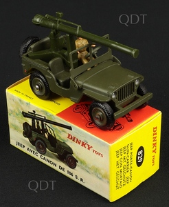 French dinky toys 829 jeep gun c318